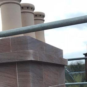 A chimney that has been worked on by our staff